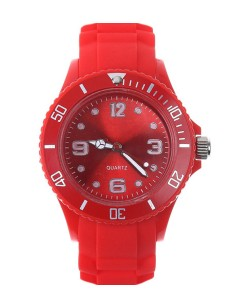 watch-ice-horloge-design-simpel-siliconen-rubber-horloges-rood-voorkant